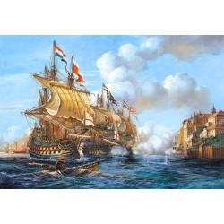 "Пазлы копия картины ""Битва в Пуэрто-Белло"" (""Battle of Porto Bello""), 1739 год"