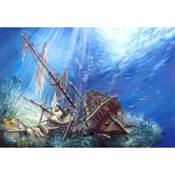 """Пазлы картина """"Затонувший Галеон"""""""