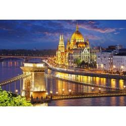 """Пазл """"Панорама Будапешта в сумерках"""", 2000 элементов"""