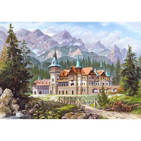 "Пазлы картина ""Замок у подножия гор"""