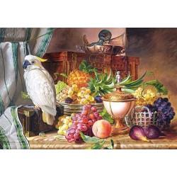 "Пазлы  копия картины ""Натюрморт с фруктами и какаду"", Josef Schuster"