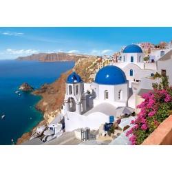 """Пазлы картина """"Остров Санторини"""", Греция"""